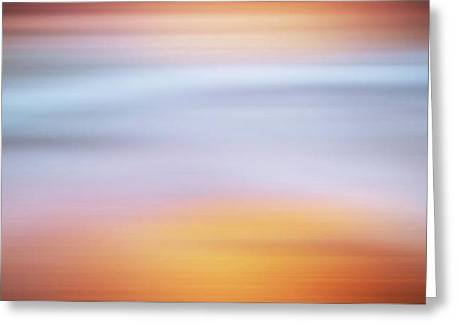 Sunset Bliss Contemporary Abstract Greeting Card by Georgiana Romanovna