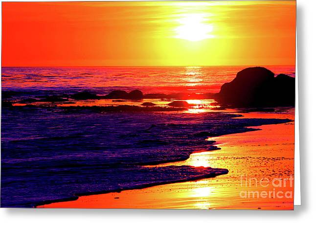 Sunset Bliss Kiss - California Greeting Card by Christopher Christoforou Shiny Soul