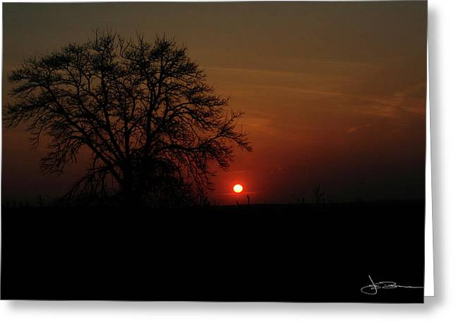 Sunset Bloody Sunset Greeting Card