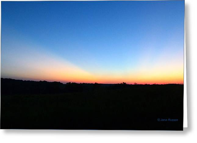 Sunset Blue Greeting Card