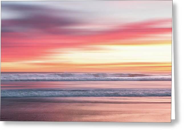 Sunset Blur - Pink Greeting Card