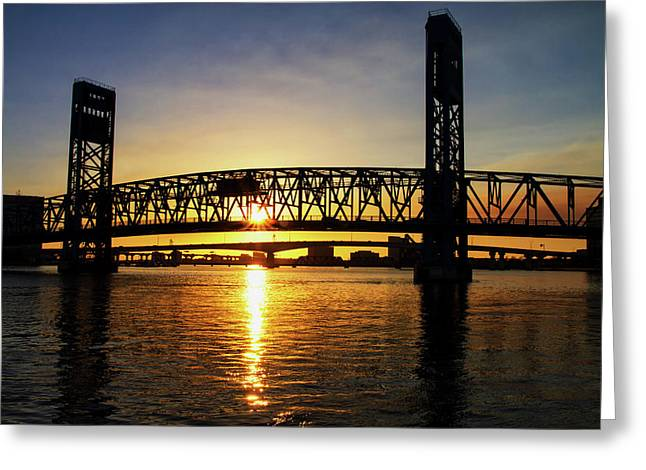 Sunset Bridge 1 Greeting Card