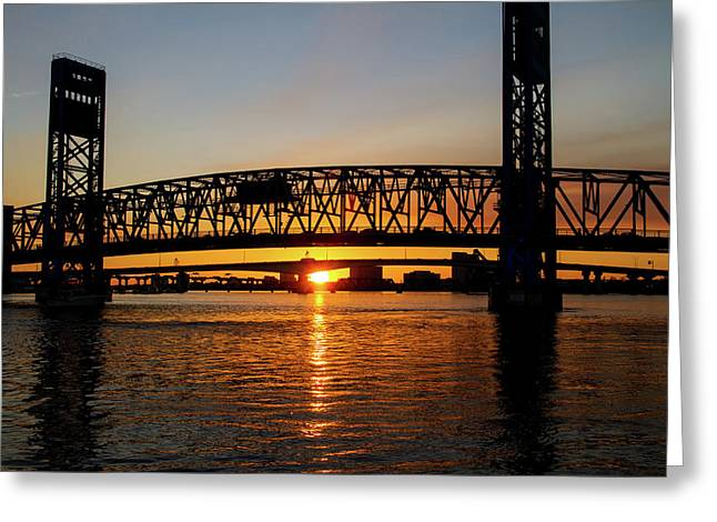 Sunset Bridge 5 Greeting Card