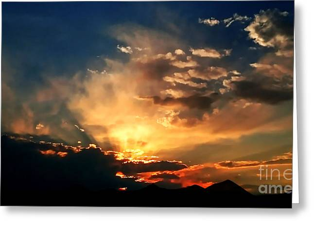 Sunset Of The End Of June Greeting Card by Zedi