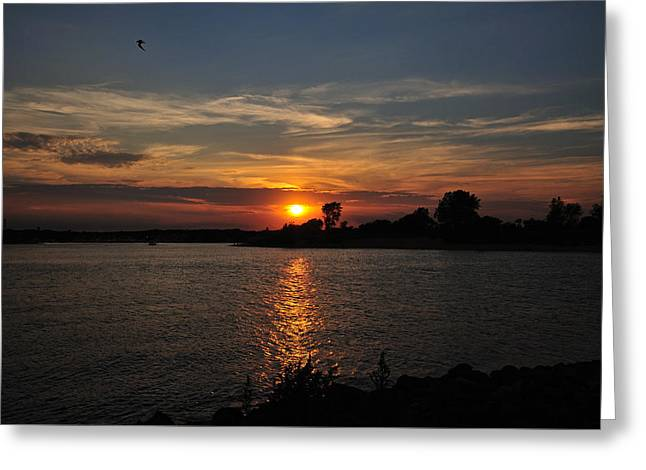 Greeting Card featuring the photograph Sunset By The Inlet by Angel Cher