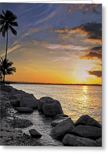 Sunset Caribe Greeting Card
