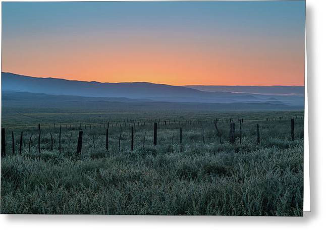 Sunset, Carrizo Plain Greeting Card