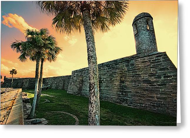 Sunset Castillo De San Marcos Greeting Card