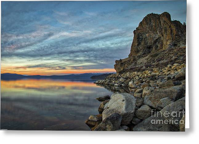 Sunset Cave Rock 2015 Greeting Card