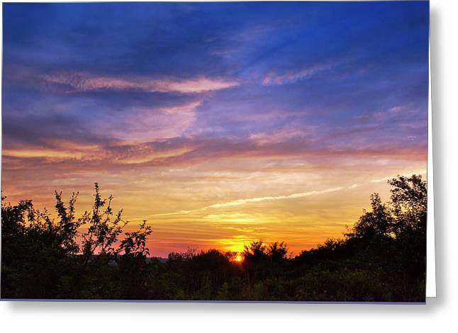 Sunset Greeting Card by Christina Rollo