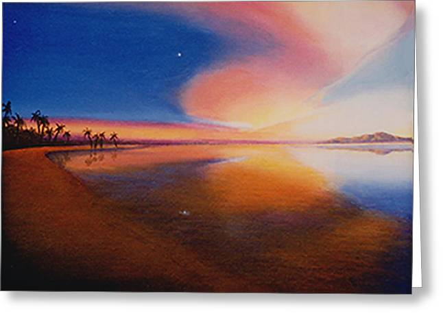 Sunset Clearing Greeting Card by Sharon Ebert