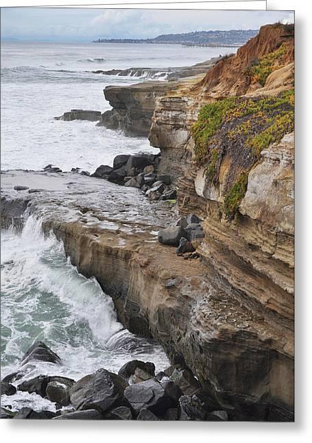 Sunset Cliffs San Diego Portrait Greeting Card
