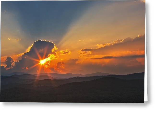 Greeting Card featuring the photograph Sunset - Close Another Day by Ken Barrett