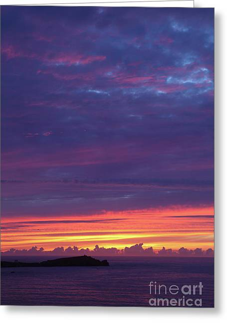 Greeting Card featuring the photograph Sunset Clouds In Newquay, Uk by Nicholas Burningham