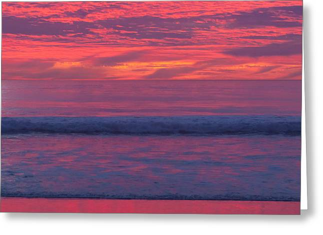 Sunset Colors Greeting Card by Ana V Ramirez