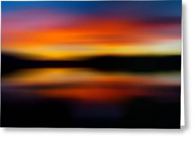 Sunset Colors - Impressionistic Greeting Card