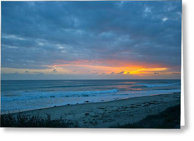 Sunset County Line Greeting Card by Jeremy Stewart