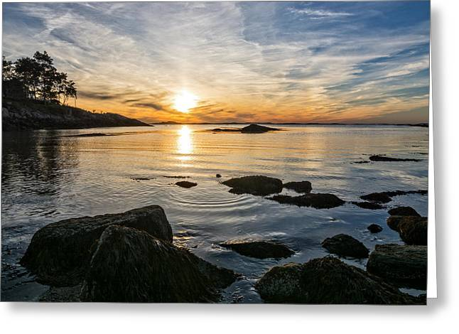 Sunset Cove Gloucester Greeting Card