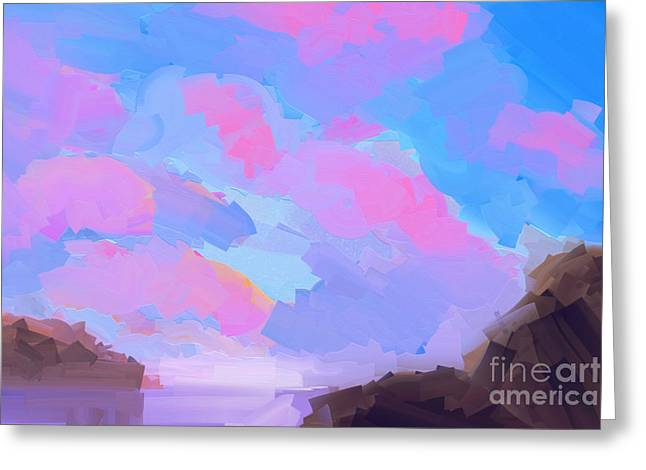 Sunset Cove  Greeting Card by Pixel Chimp