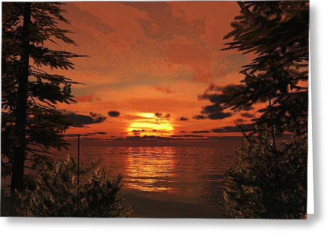 Sunset Cove Greeting Card by Timothy McPherson