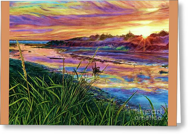 Sunset Creation Greeting Card