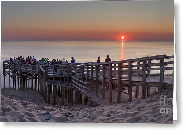 Sunset Crowd Greeting Card by Twenty Two North Photography