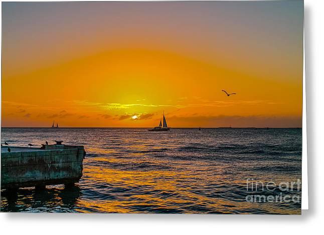 Sunset Cruise - Key West 2 Greeting Card