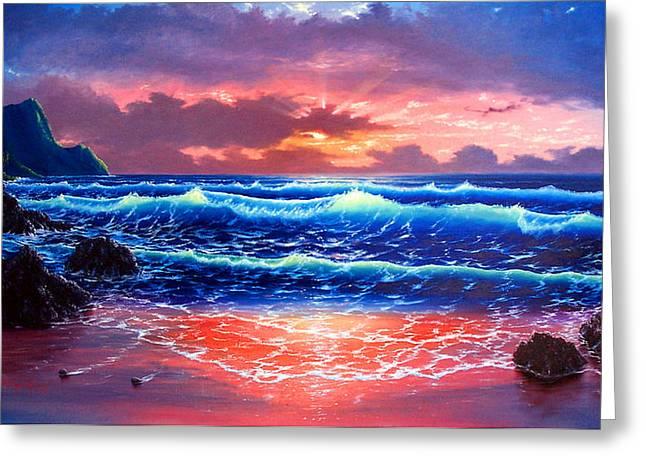 Sunset Greeting Card by Daniel Bergren