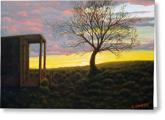 Sunset Greeting Card by Darren Yarborough