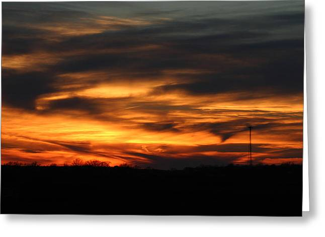 Sunset Greeting Card by Dave Clark