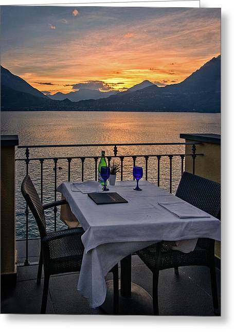 Sunset Dining Greeting Card