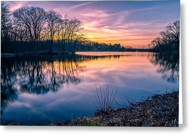 Sunset-dorothy Pond Greeting Card