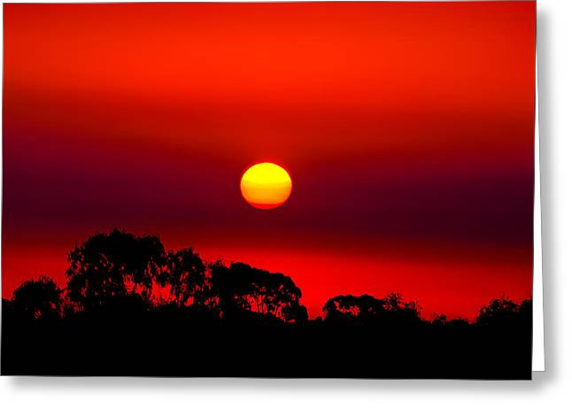 Sunset Dreaming Greeting Card by Az Jackson