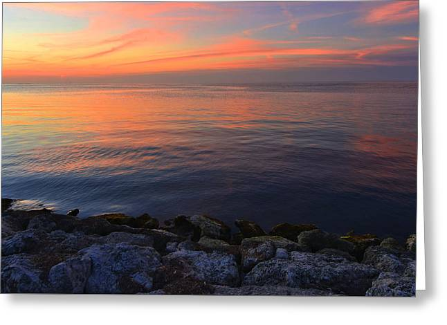 Greeting Card featuring the photograph Sunset Dreamscape by Stephen  Vecchiotti