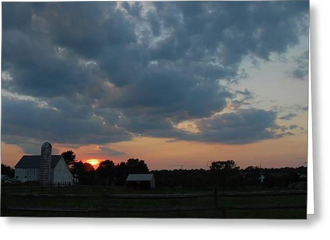 Sunset Greeting Card by Eva Ramanuskas