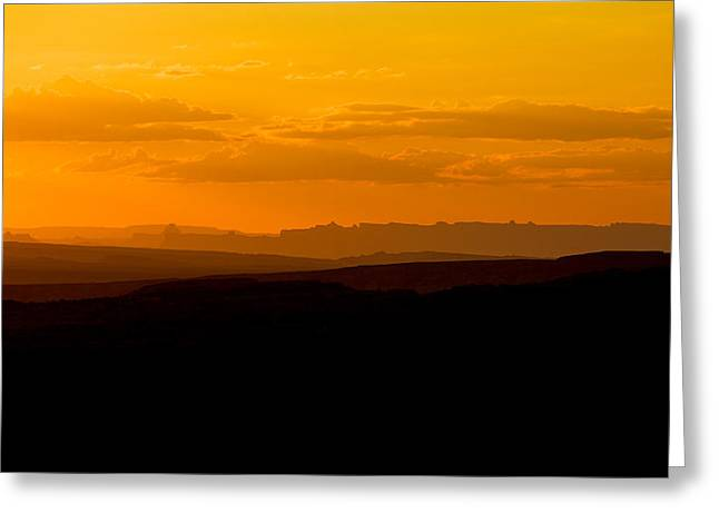Greeting Card featuring the photograph Sunset by Evgeny Vasenev