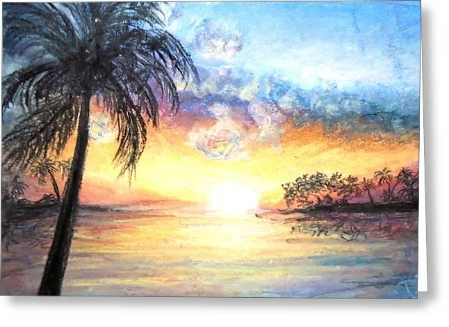 Sunset Exotics Greeting Card