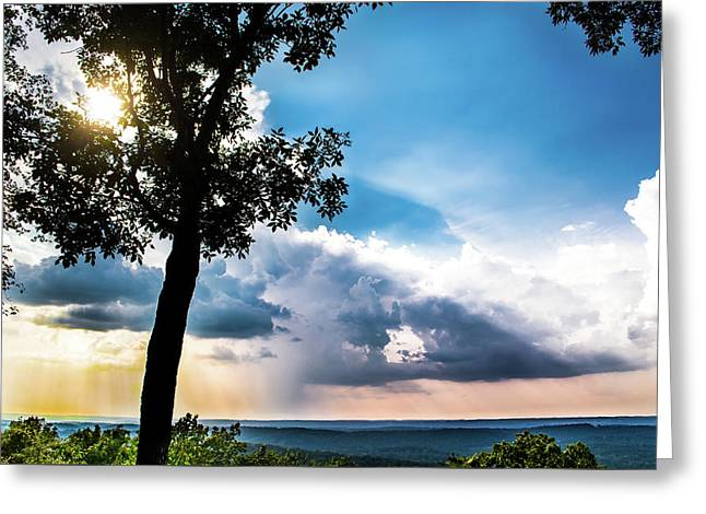 Greeting Card featuring the photograph Sunset Explosion by Shelby Young