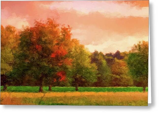 Sunset Field Greeting Card