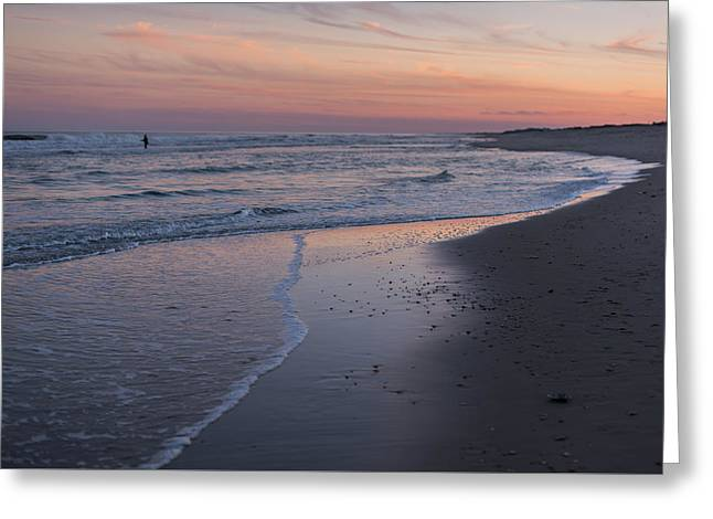 Sunset Fishing Seaside Park Nj Greeting Card by Terry DeLuco