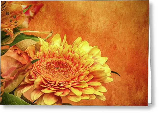 Sunset Flowers Greeting Card by Wim Lanclus