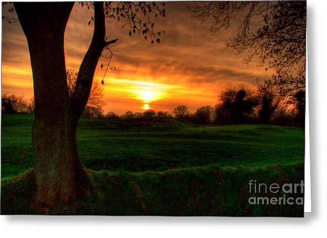 Sunset For The Past Greeting Card by Kim Shatwell-Irishphotographer