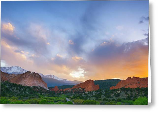 Greeting Card featuring the photograph Sunset Forever by Tim Reaves