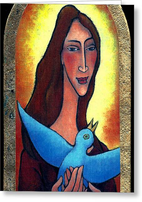 Greeting Card featuring the painting Sunset Freedom by Angela Treat Lyon