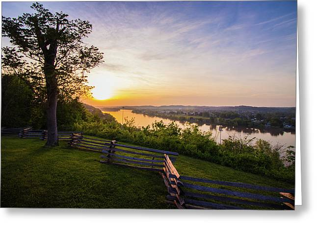 Sunset From Boreman Park Greeting Card