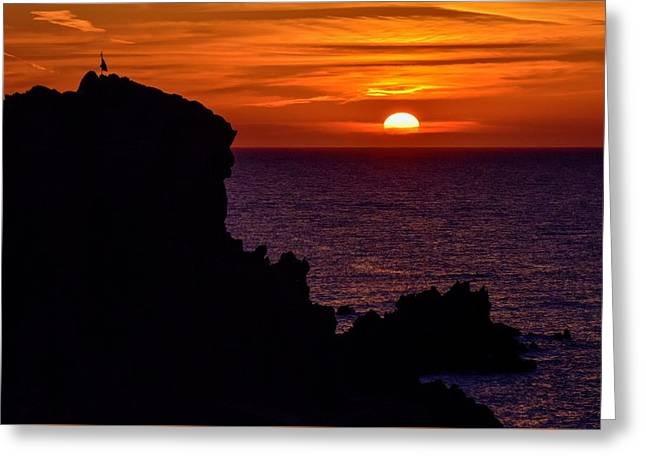 Greeting Card featuring the photograph Sunset From Costa Paradiso by Geoff Smith