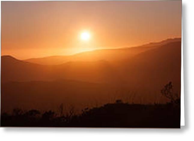 Sunset From Marine Headlands San Francisco Greeting Card