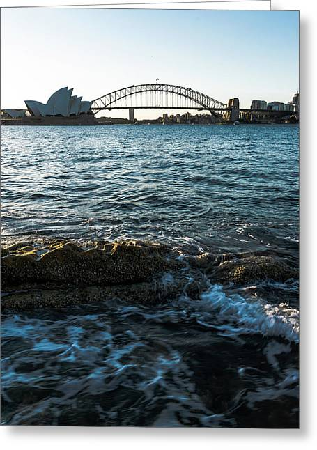 Sunset From Mrs Macquarie's Point Greeting Card