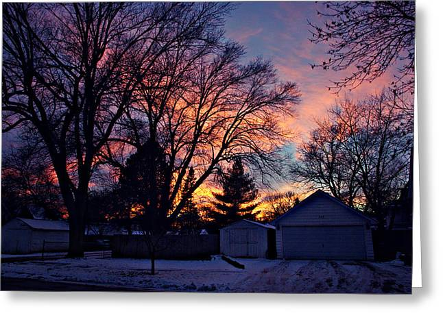 Sunset From My View Greeting Card by Kathy M Krause