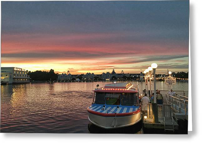 Sunset From The Boardwalk Greeting Card by John Black